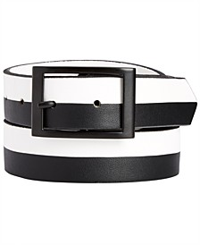 INC Men's Colorblocked Reversible Belt, Created for Macy's