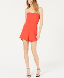 French Connection Whisper Removable-Strap Romper
