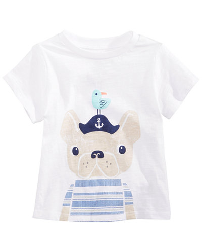 First Impressions Baby Boys Captain Dog Graphic T-Shirt, Created for Macy's