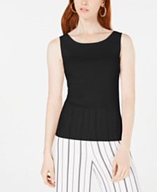 Bar III Scoop-Neck Sweater, Created for Macy's