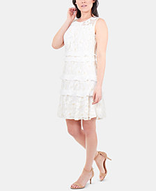 NY Collection Ruffled Lace Dress