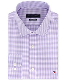 Men's Slim-Fit Stretch Check Dress Shirt, Online Exclusive Created for Macy's