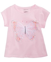 f1f550c2 First Impressions Baby Girls Spring Graphic T-Shirt, Created for Macy's