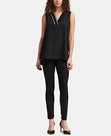 DKNY Contrast-Trim Tank Top, Created for Macy's