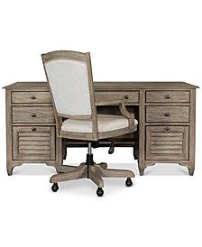 York Home Office, 2-Pc. Furniture Set (Executive Desk & Upholstered Desk Chair)