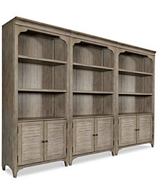 York Home Office Bookcase, Set of 3