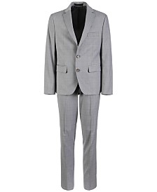 Lauren Ralph Lauren Big Boys Classic-Fit Stretch Windowpane Suit Separates