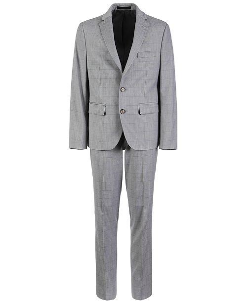 Lauren Ralph Lauren Big Boys Classic-Fit Stretch Windowpane Suit Separates