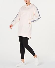 Calvin Klein Performance Varsity-Stripe Hoodie Dress