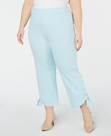 Alfani Plus Size Side-Tie Ankle Pants, Created for Macy's