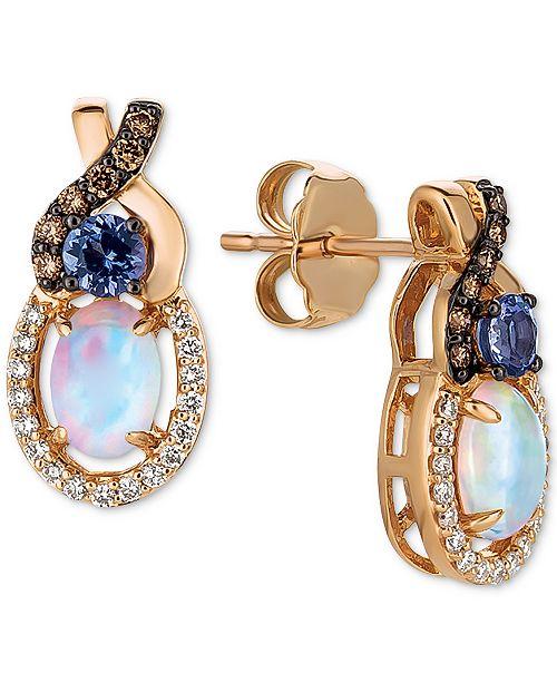 Le Vian Multi-Gemstone Drop Earrings in 14k Rose Gold