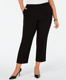 Kasper Plus Size Pull-On Ankle Pants