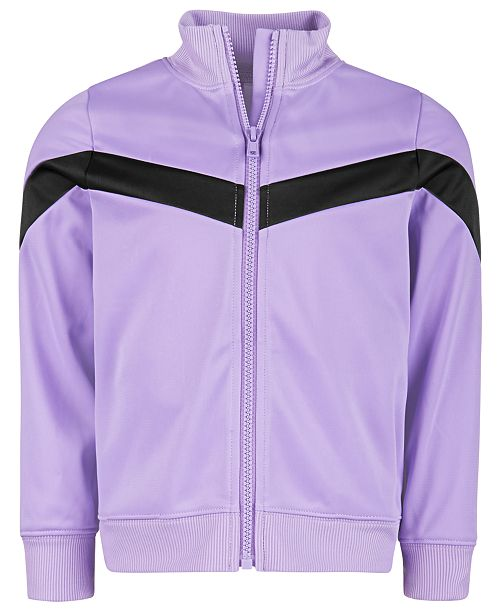 Ideology Little Girls Colorblocked Zip-Up Jacket, Created for Macy's