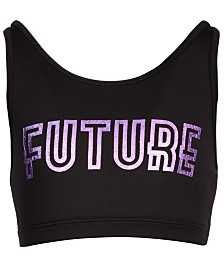 Ideology Big Girls Future-Print Sports Bra, Created for Macy's