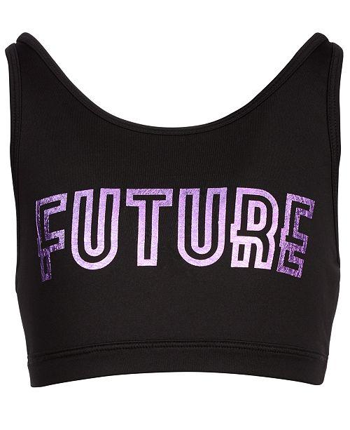 Ideology Big Girls Future-Print Sports Bra, Created for Macy's
