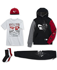 Jordan Big Boys Remix Logo Cap, Futura Hoodie, Graphic-Print T-Shirt, Futura Pants & Crew Socks
