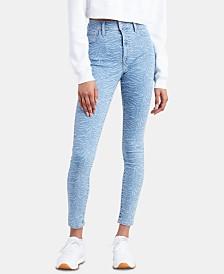 Levi's® 720 Zebra-Print High-Rise Super-Skinny Jeans