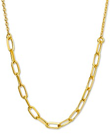 """Giani Bernini Chain Link 18"""" Statement Necklace, Created for Macy's"""