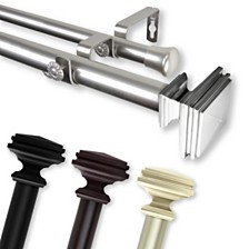 """Bedpost Double Curtain Rod 1"""" OD 160-240 inch"""