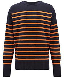 BOSS Men's Fantastico Striped Cotton Sweater