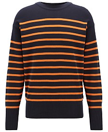 BOSS Men's Fantastico Striped Cotton Sweater