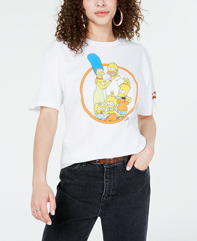 Mighty Fine Juniors' Cotton The Simpsons Graphic T-Shirt