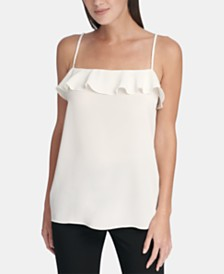 DKNY Ruffle Bow-Tie Camisole Top