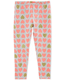 Carter's Little Girls Heart-Print Leggings
