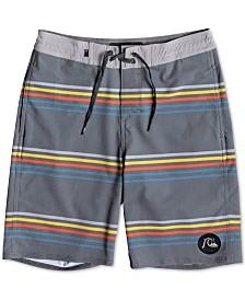 Quiksilver Big Boys Stripe Swim Trunks