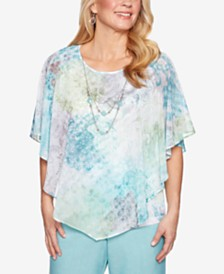 Alfred Dunner Versailles Poncho Top