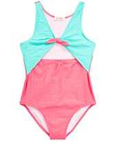 6e4af78381 Jessica Simpson Big Girls 1-Pc. Seersucker Swimsuit