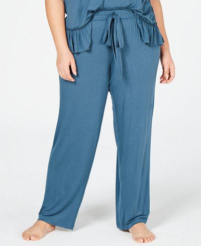 I.N.C. Ultra Soft Plus Knit Ruching Pajama Pants, Created for Macy's
