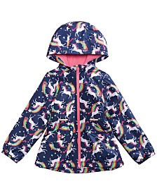 Carter's Little Girls Unicorns & Rainbows Hooded Jacket