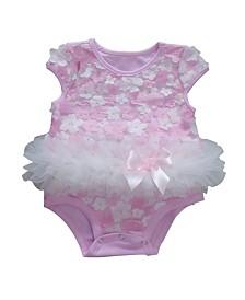 Baby Tutu Bodysuit Pink Mix Daisy Flowers