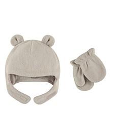 Fleece Bear Hat and Mitten Set, 2-Piece Set, 0 Months-4T
