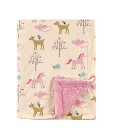 Luvable Friends Mink/Sherpa Blanket, One Size