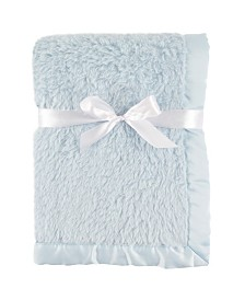 Hudson Baby Sherpa Blanket with Satin Binding, One Size