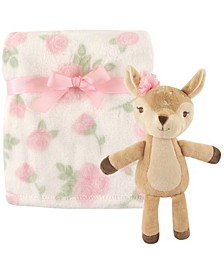 Hudson Baby Plush Blanket and Toy, 2-Piece Set, One Size