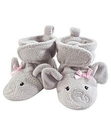Cozy Fleece Booties with Non Skid Bottom, 0-24 Months