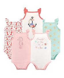 Hudson Baby Sleeveless Bodysuits, 5-Pack, 0-24 Months