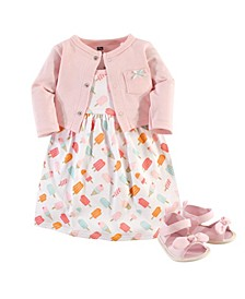 Dress, Cardigan and Shoes, 3-Piece Set, 0-18 Months