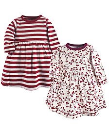 Baby and Toddler Girls Winter Woodland Youth Long-Sleeve Dresses, Pack of 2