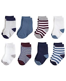 Touched by Nature Organic Basic Socks, 8-Pack, 0-24 Months