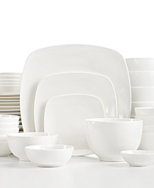 White Elements Hampton Square 42-Piece Set, Service for 6