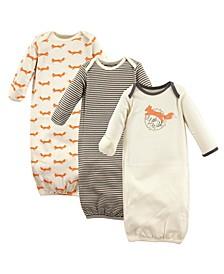 Organic Cotton Sleep Gown, 3-Pack, 0-6 Months