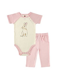 Touched by Nature Organic Bodysuits and Pants Set, Bunny, 0-12 Months