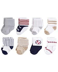 Terry Socks, 8-Pack