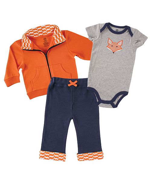 Baby Vision Yoga Sprout Track Jacket, Bodysuits and Pants, 3-Piece Set, 0-24 Months