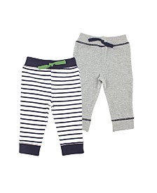 Yoga Sprout Tapered Ankle Pants, 2-Pack, 0-24 Months