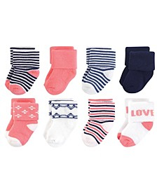 Organic Cotton Terry Socks, 8-Pack, 0-12 Months